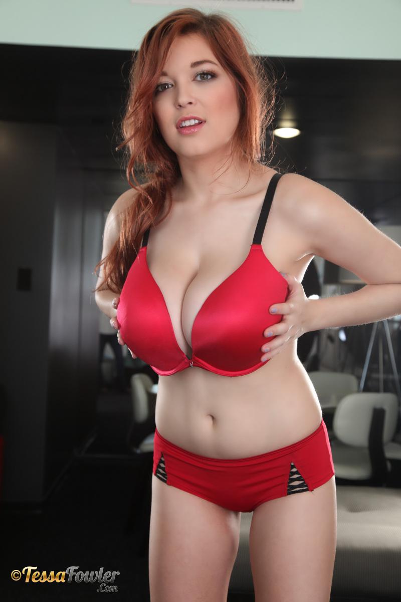 Tessa fowler red bra